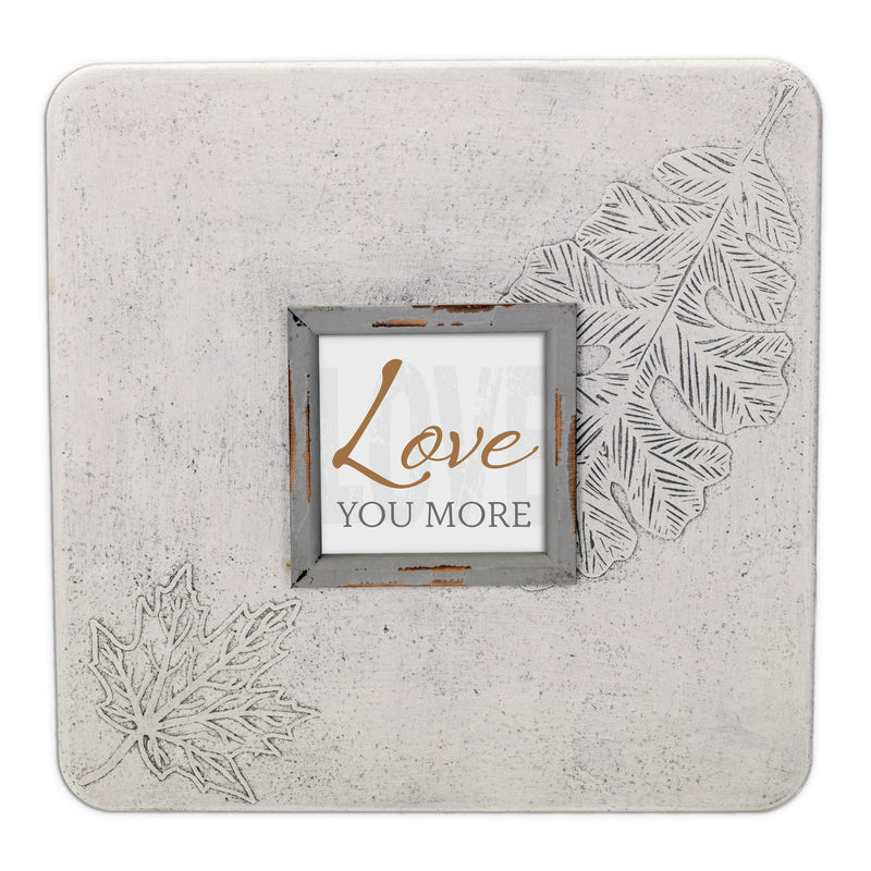 Love You More 16 x 16 Dandelion Impression Wall Art Sign Plaque, Large