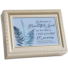 Blessed are the Pure in Heart Inspirational Champagne Rope Trim Music Box Plays Amazing Grace