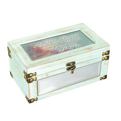 Someone Special Forever Distressed Caledon Green Metal and Wood Music Box Plays Edelweiss
