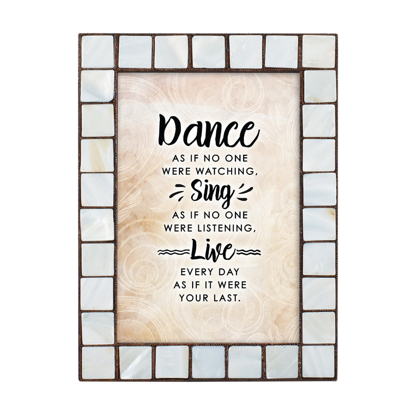 Dance Sing Live Amber Pearlescent 5 x 7 Table Top and Wall Photo Frame