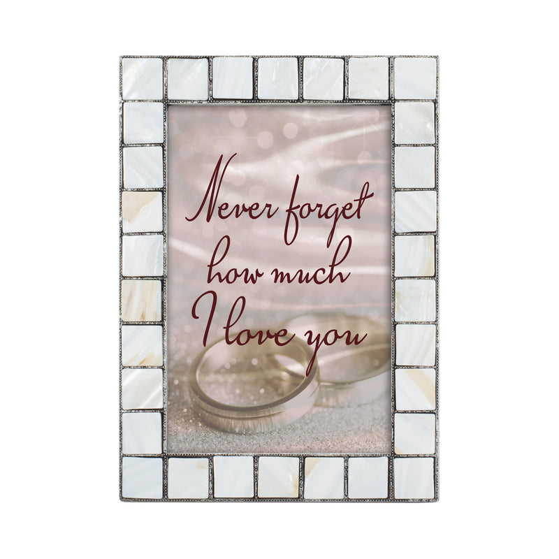 Never Forget Our Love Greybrush 5 x 7  Mother Of Pearl Photo Frame
