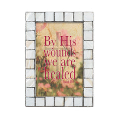 We Are Healed Greybrush 5 x 7  Mother Of Pearl Photo Frame
