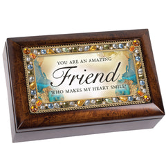 You are an Amazing Friend Amber Jewelry Petite Music Box Plays That's What Friends Are For