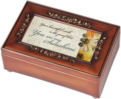 Walnut Music Box with sentiment,