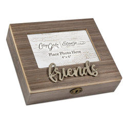 Metal Appliqué Friend Music Box Plays That's What Friends Are For