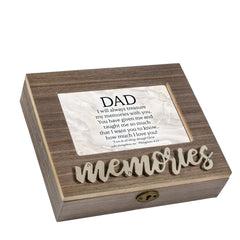 Dad I Love You Distressed Brown 6 x 4 Bevel Petite Music Box Plays Tune How Great Thou Art