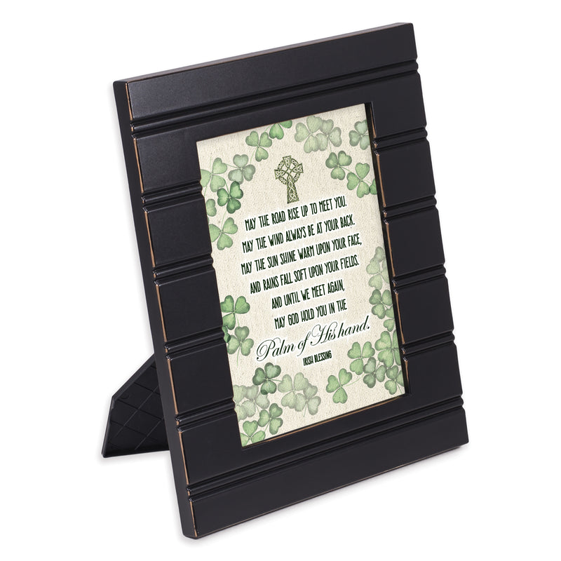 Palm of His Hand Irish Blessing Black Beaded Board 5 x 7 Table Top and Wall Photo Frame