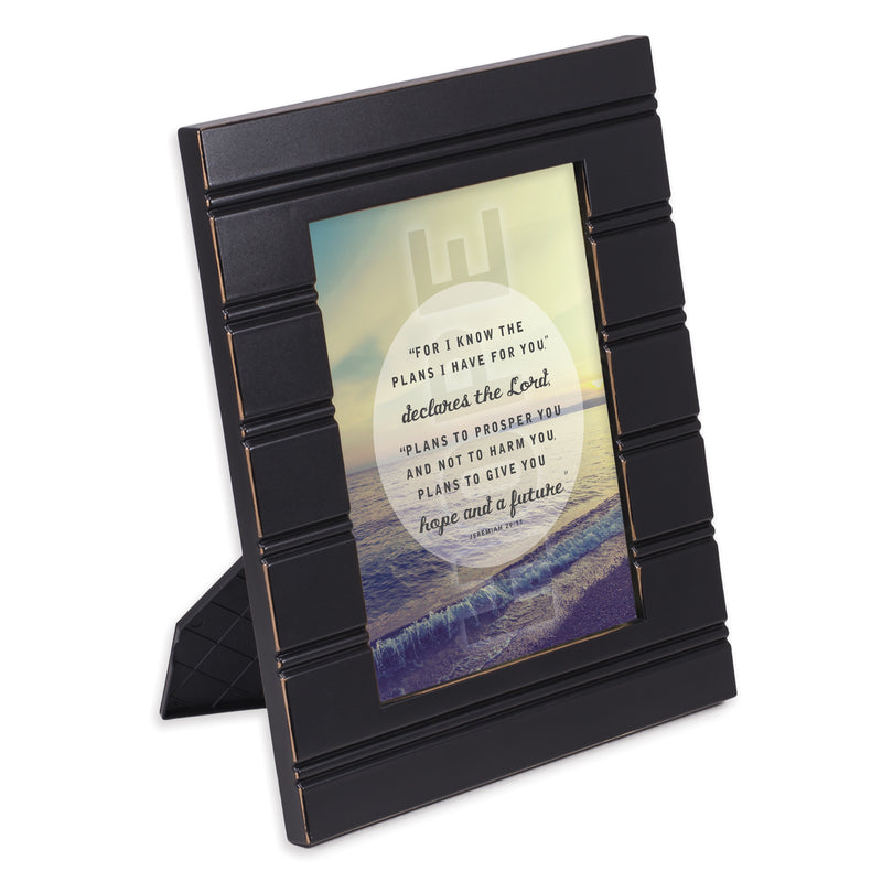 He Gives Me Hope Black Beaded Board 5 x 7 Table Top and Wall Photo Frame