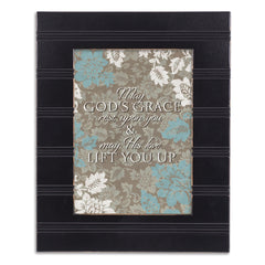 His Grace Lift You Up Black Beaded Board 5 x 7 Table Top and Wall Photo Frame