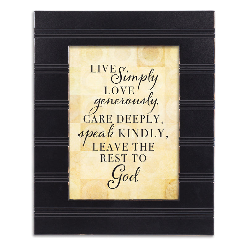 Live Love Care Black Beaded Board 5 x 7 Table Top and Wall Photo Frame