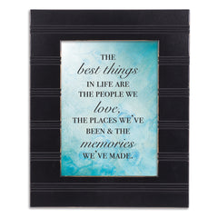 The Best Things in Life Black Beaded Board 5 x 7 Table Top and Wall Photo Frame