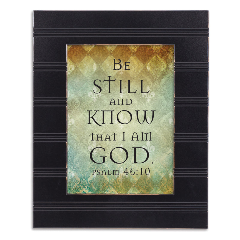 Be Still and Know Black Beaded Board 5 x 7 Table Top and Wall Photo Frame