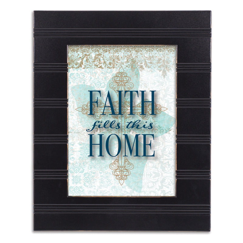 Faith Fills This Home Black Beaded Board 5 x 7 Table Top and Wall Photo Frame