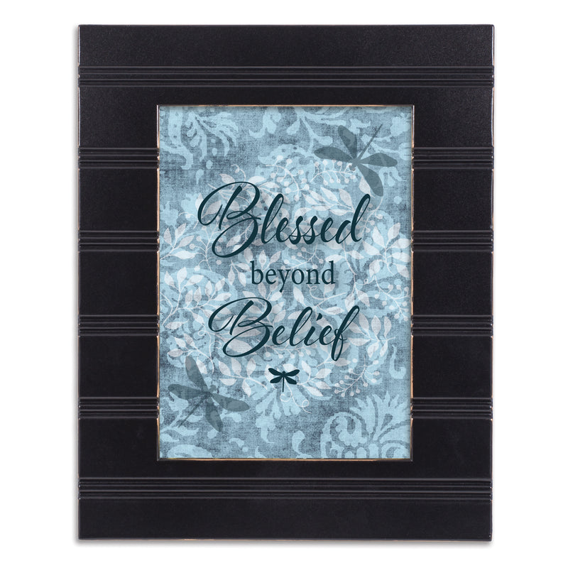 Blessed Beyond Belief Black Beaded Board 5 x 7 Table Top and Wall Photo Frame
