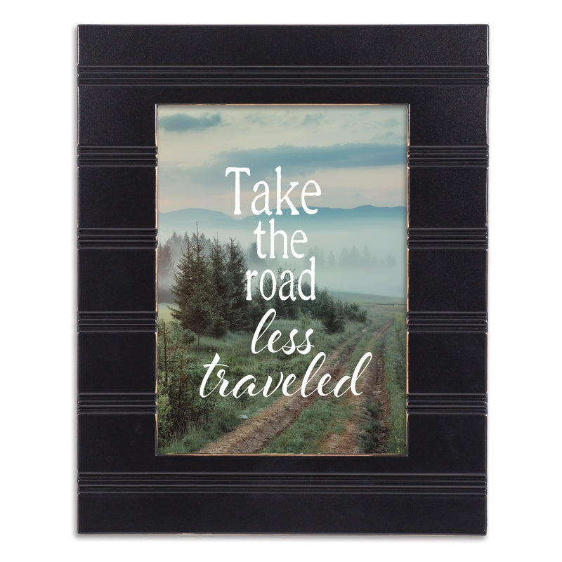 The Road Less Traveled Black Beaded Board 5 x 7 Table Top and Wall Photo Frame