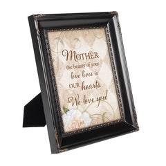 Mother Your Love Black Rope Trim 8 x 10 Table Top and Wall Photo Frame