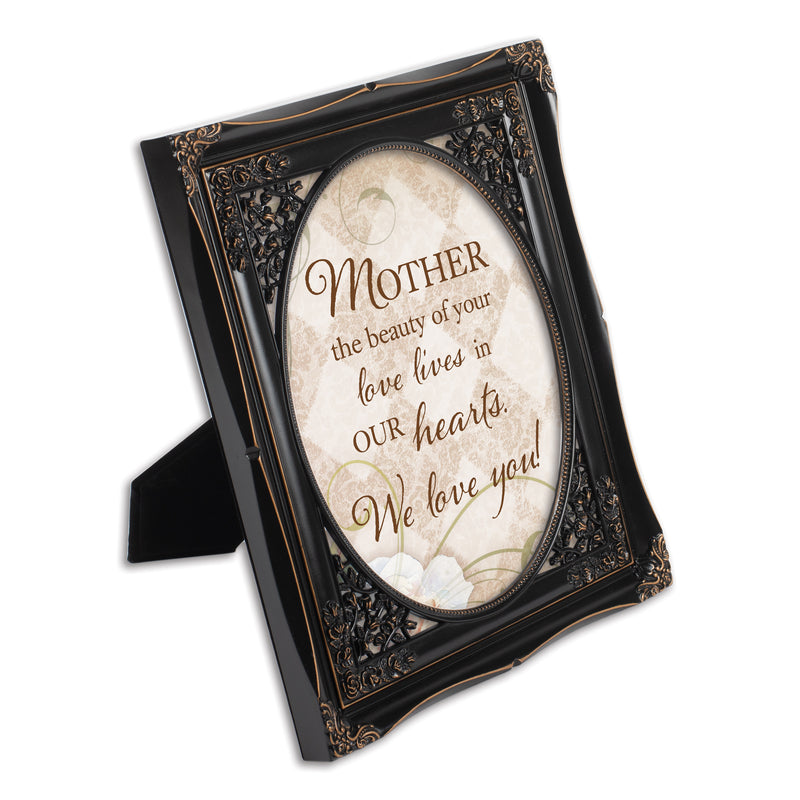 Mother Your Love Black Floral Cutout 8 x 10 Table Top and Wall Photo Frame