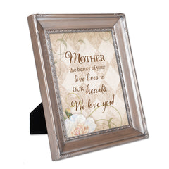 Mother Your Love Brushed Silver Rope Trim 8 x 10 Table Top and Wall Photo Frame