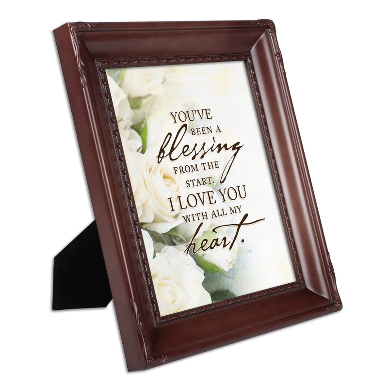 You've Been a Blessing Mahogany Rope Trim 8 x 10 Table Top and Wall Photo Frame