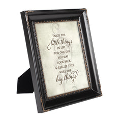 Enjoy the Little Things Black Rope Trim 8 x 10 Table Top and Wall Photo Frame