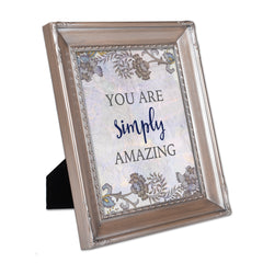 You Are Simply Amazing Brushed Silver Rope Trim 8 x 10 Table Top and Wall Photo Frame