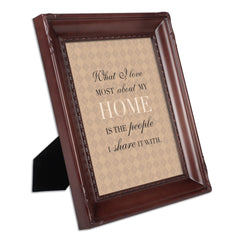 I Love My Home Mahogany Rope Trim 8 x 10 Table Top and Wall Photo Frame
