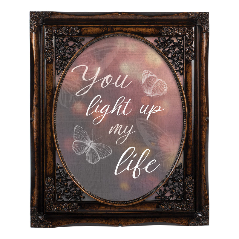 You Light Up My Life Amber 8 x 10 Floral Cutout Wall And Tabletop Photo Frame