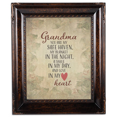 Grandma My Safe Haven Amber  8 x 10  Wall And Tabletop Photo Frame