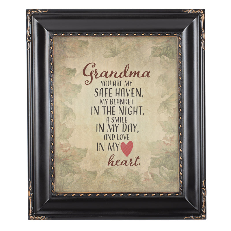 Grandma My Safe Haven Solid Black 8 x 10  Wall And Tabletop Photo Frame