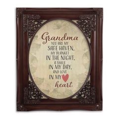 Grandma My Safe Haven Oval Mahogny 8 x 10  Oval Wall And Tabletop Photo Frame