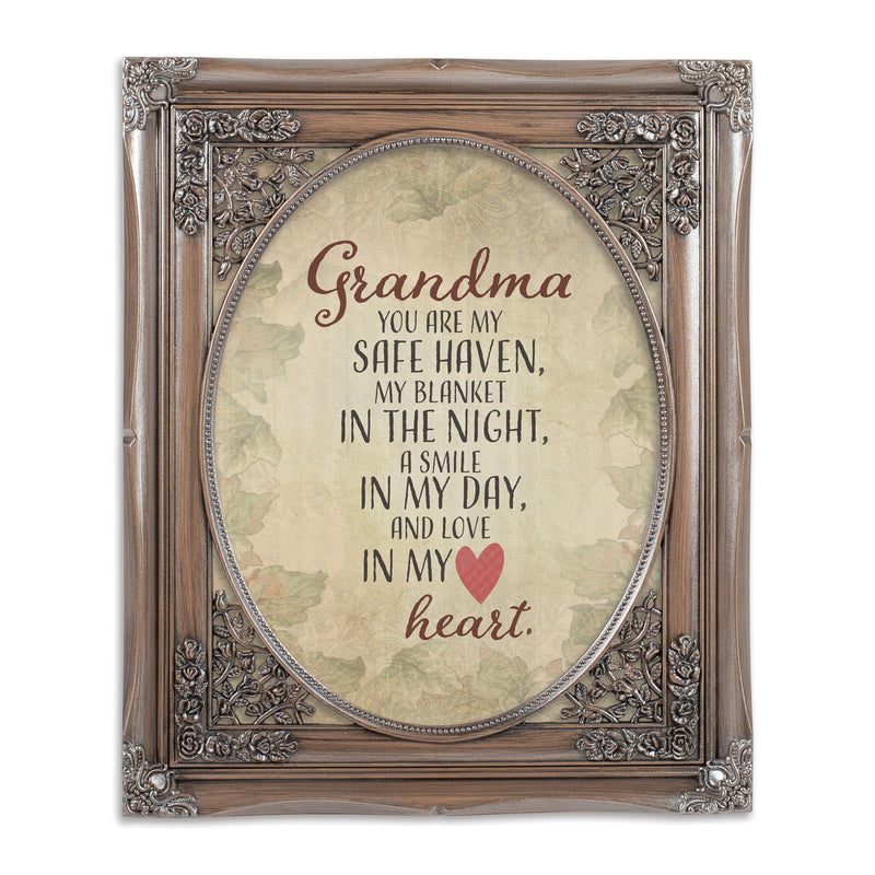 Grandma My Safe Haven Oval Silver Greybrush 8 x 10  Oval Wall And Tabletop Photo Frame
