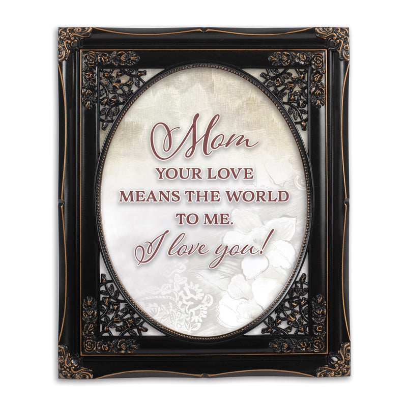 Love Means The World Solid Black 8 x 10  Oval Wall And Tabletop Photo Frame