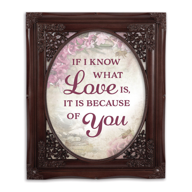Love Is Because Of You Oval Mahogny 8 x 10  Oval Wall And Tabletop Photo Frame