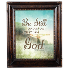 Know I Am God Amber  8 x 10  Wall And Tabletop Photo Frame
