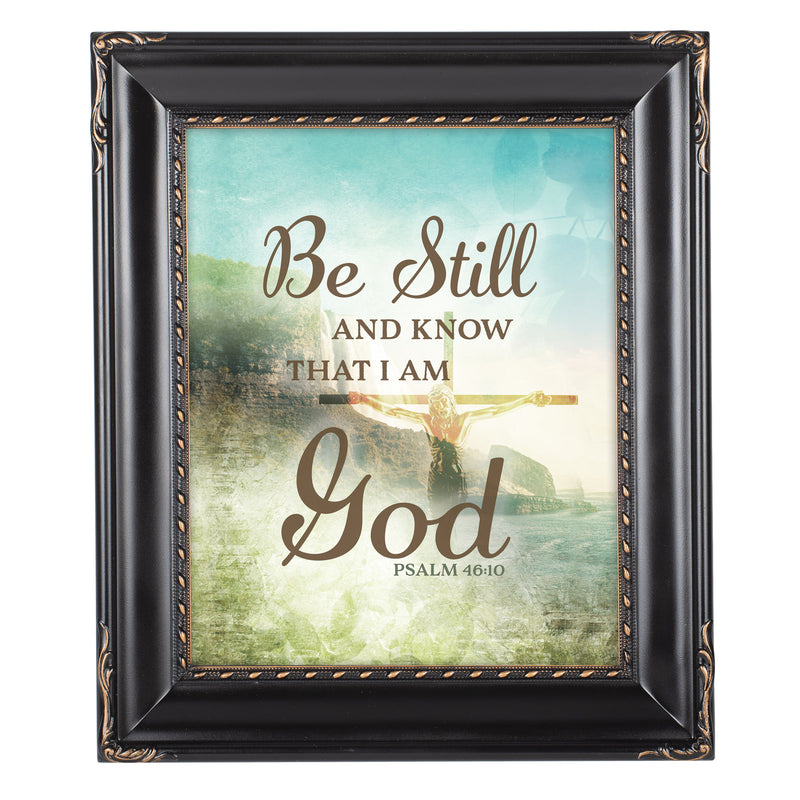 Know I Am God Solid Black 8 x 10  Wall And Tabletop Photo Frame