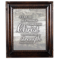 I Can Do All Things Amber  8 x 10  Wall And Tabletop Photo Frame
