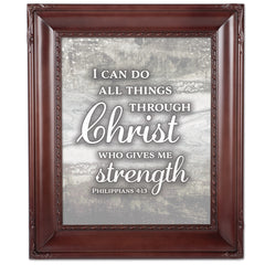 I Can Do All Things Mahogny 8 x 10  Wall And Tabletop Photo Frame
