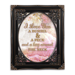 Bushel And A Peck Solid Black 8 x 10  Oval Wall And Tabletop Photo Frame