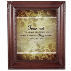 I Have Redeemed You Mahogny 8 x 10  Wall And Tabletop Photo Frame