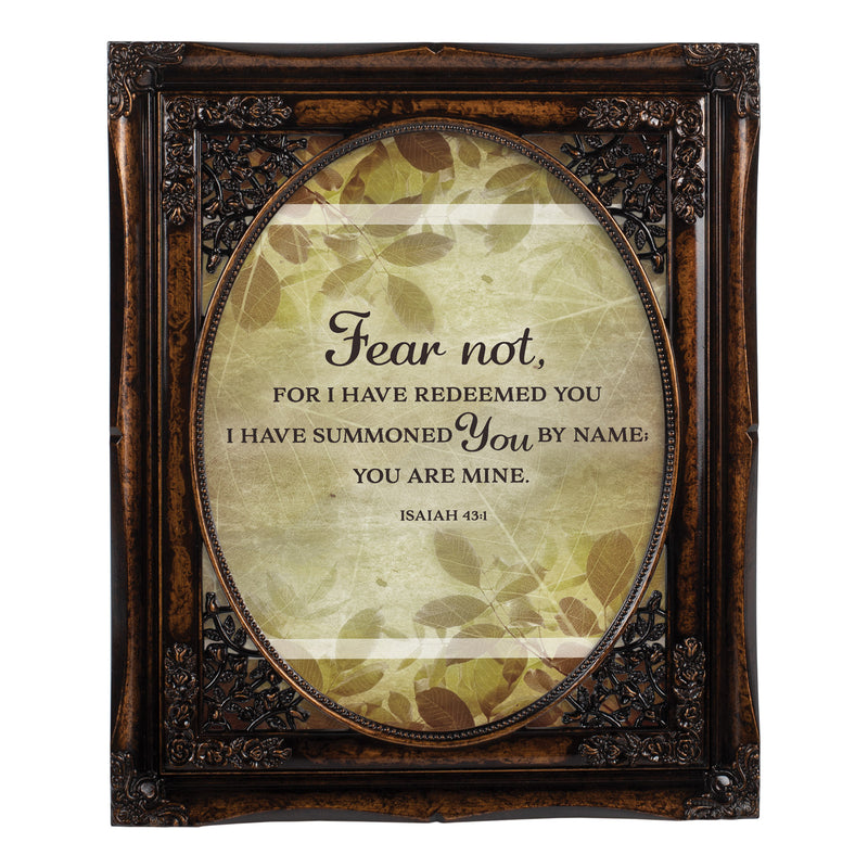 I Have Redeemed You Oval Amber 8 x 10  Oval Wall And Tabletop Photo Frame