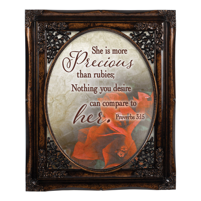 More Precious  Oval Amber 8 x 10  Oval Wall And Tabletop Photo Frame