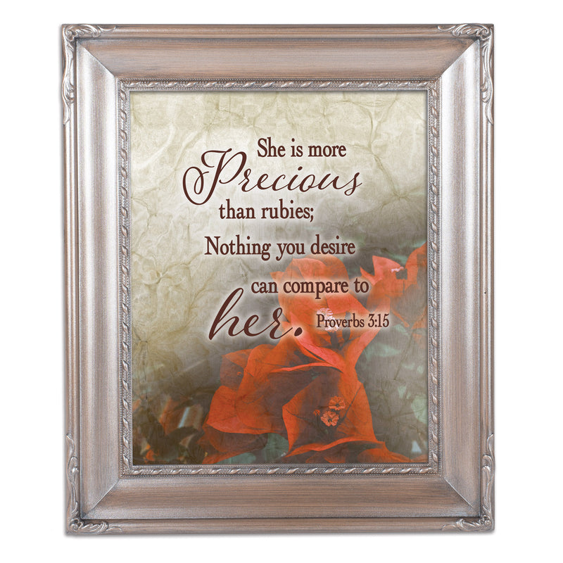 More Precious  Silver Greybrush 8 x 10  Wall And Tabletop Photo Frame