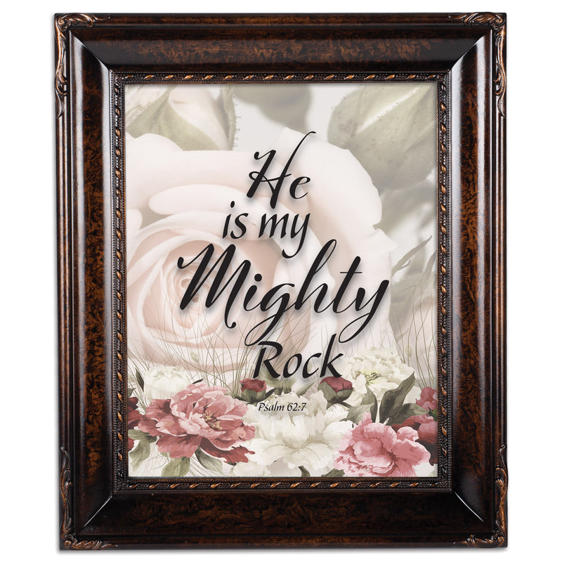 He Is My Mighty Rock Amber  8 x 10  Wall And Tabletop Photo Frame