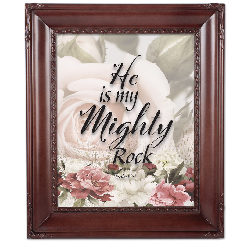 He Is My Mighty Rock Mahogny 8 x 10  Wall And Tabletop Photo Frame