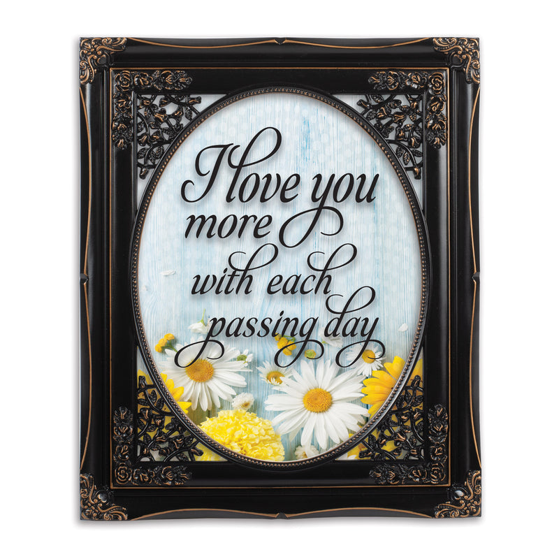 I Love You More Solid Black 8 x 10  Oval Wall And Tabletop Photo Frame
