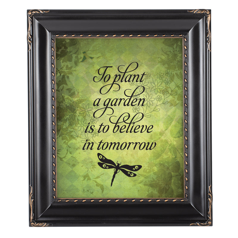 Believe In Tomorrow Solid Black 8 x 10  Wall And Tabletop Photo Frame