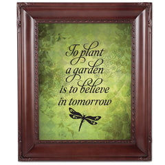 Believe In Tomorrow Mahogny 8 x 10  Wall And Tabletop Photo Frame