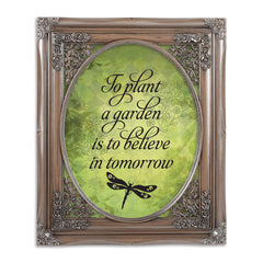 Believe In Tomorrow Oval Silver Greybrush 8 x 10  Oval Wall And Tabletop Photo Frame