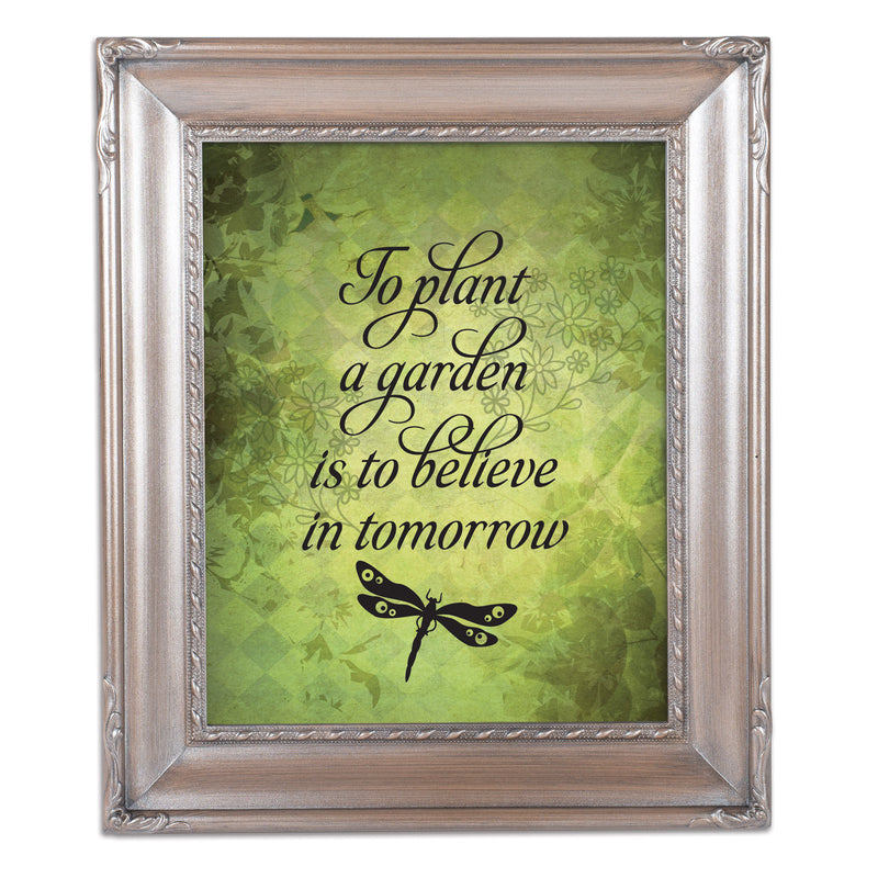 Believe In Tomorrow Silver Greybrush 8 x 10  Wall And Tabletop Photo Frame