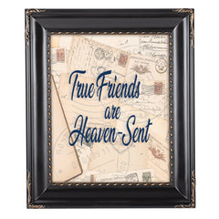 True Friends Solid Black 8 x 10  Wall And Tabletop Photo Frame